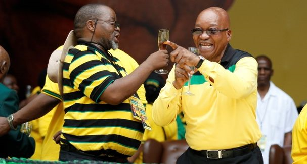 ANC secretary-general Gwede Mantashe and ANC president Jacob Zuma