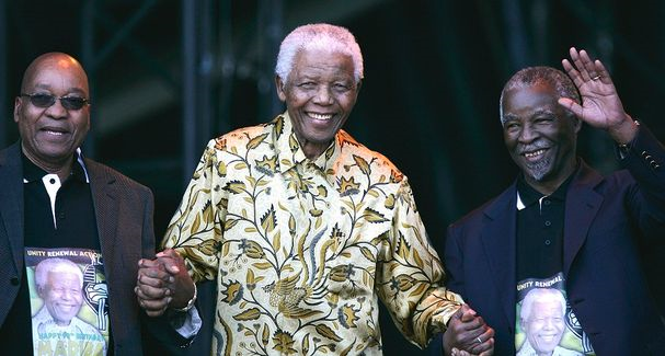 Jacob Zuma, Nelson Mandela and Thabo Mbeki — PICTURE: GETTY IMAGES