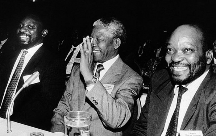 Ramaphosa, Mandeal and Zuma 1992