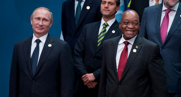 Russian President Vladimir Putin and President Jacob Zuma