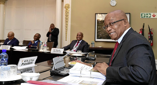 President Jacob Zuma convened Presidential's Coodinating Council (PCC) meeting at Tuynhuys in Cape Town. The PCC is a statutary meeting of the President with the leadership of the Provincial and local government- the Premiers and leadership of the South African Local Government Association (SALGA) to promote sound effective cooperative governance.14/11/2017 Kopano Tlape GCIS