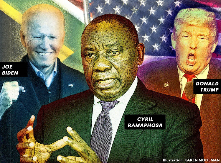 Slow and sedate Ramaphosa, so unlike fast and furious Trump